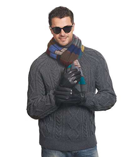 Pratt and Hart Men's Lambskin Winter Leather Gloves with Thinsulate Lining