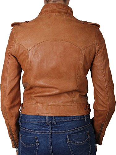 New Womens Motorcycle Genuine Sheep Leather Party Jacket LFW281