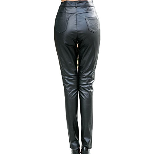 Humiture Women's Genuine cowhide Real Leather Pants 5517
