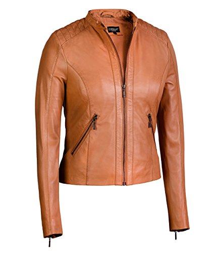Women's Moto Jacket from Soft Genuine Lambskin Leather