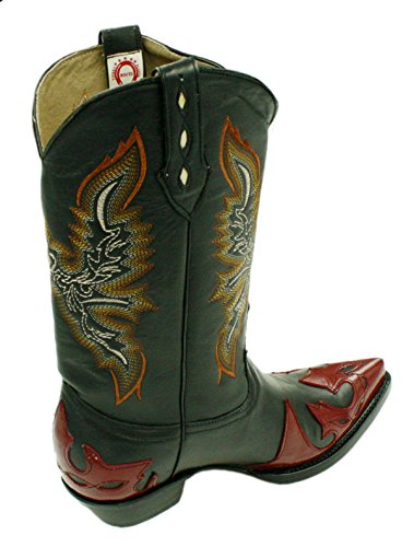 Men's Genuine Soft Leather Western Cowboy boots With Design