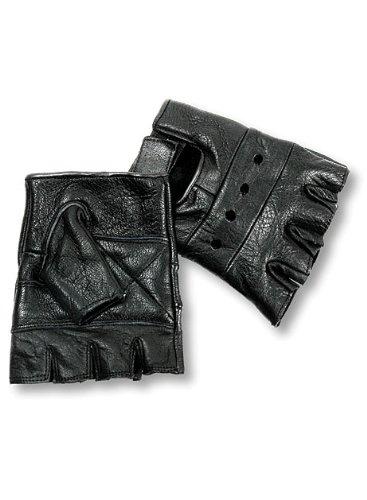 Interstate Leather Men's Basic Fingerless Gloves