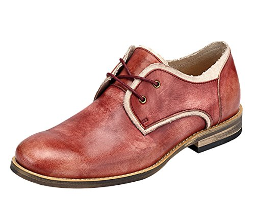 Oncefirst Men's Flat Genuine Leather Round Toe Casual Shoes