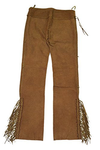 Polo Ralph Lauren Womens Western Fringe Indian Suede Leather Lace Pants Brown 4