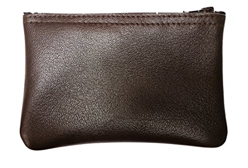 MJL Genuine Napa Leather coin purse. Buttery soft BROWN. Made in USA.
