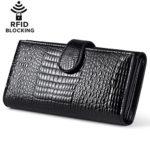 Huztencor Leather Clutch Wallet Women RFID Blocking Wallet long (FBA)