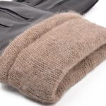 Men's Lambskin Leather Cashmere Lined Winter Gloves, Touchscreen