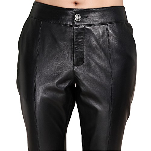 Genuine sheepskin Leather Trousersfor Women ,Genuien Leather Pants5534