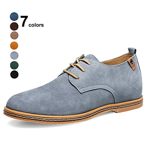 CIOR Men Oxford Classic Dress Suede Leather Casual Shoes Lace-up Loafer Flats Sneakers