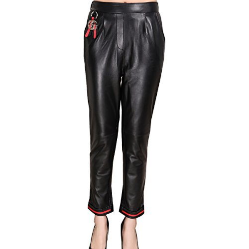 Humiture Lady's Leather Pants genuine Sheepskin Leather Trousers 5528
