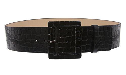 2 1/4″ Wide Ladies High Waist Croco Print Patent Leather Fashion Belt